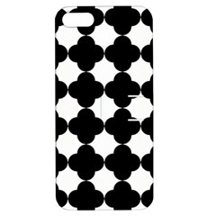 Black Four Petal Flowers Apple iPhone 5 Hardshell Case with Stand