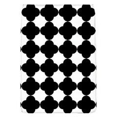 Black Four Petal Flowers Flap Covers (L)