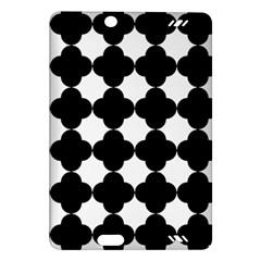 Black Four Petal Flowers Amazon Kindle Fire HD (2013) Hardshell Case
