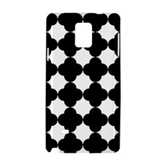 Black Four Petal Flowers Samsung Galaxy Note 4 Hardshell Case