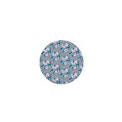 Animals Deer Owl Bird Bear Grey Blue 1  Mini Buttons