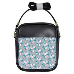 Animals Deer Owl Bird Bear Grey Blue Girls Sling Bags