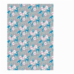 Animals Deer Owl Bird Bear Grey Blue Small Garden Flag (Two Sides)