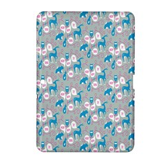 Animals Deer Owl Bird Bear Grey Blue Samsung Galaxy Tab 2 (10.1 ) P5100 Hardshell Case