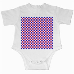 Blue Red Checkered Plaid Infant Creepers
