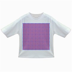 Blue Red Checkered Plaid Infant/toddler T Shirts