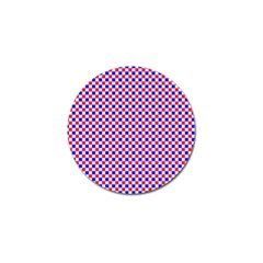 Blue Red Checkered Plaid Golf Ball Marker (4 pack)