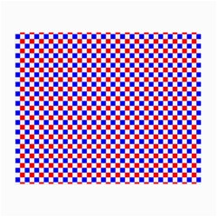 Blue Red Checkered Plaid Small Glasses Cloth (2-Side)