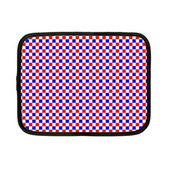 Blue Red Checkered Plaid Netbook Case (Small)