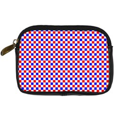 Blue Red Checkered Plaid Digital Camera Cases