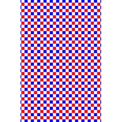 Blue Red Checkered Plaid 5.5  x 8.5  Notebooks