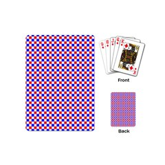 Blue Red Checkered Plaid Playing Cards (Mini)