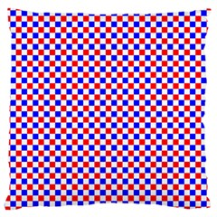 Blue Red Checkered Plaid Large Cushion Case (One Side)