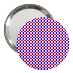 Blue Red Checkered Plaid 3  Handbag Mirrors