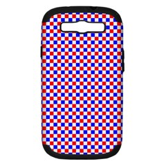 Blue Red Checkered Plaid Samsung Galaxy S III Hardshell Case (PC+Silicone)