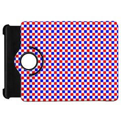 Blue Red Checkered Plaid Kindle Fire HD 7
