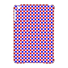 Blue Red Checkered Plaid Apple iPad Mini Hardshell Case (Compatible with Smart Cover)