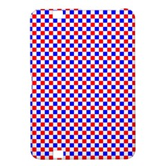 Blue Red Checkered Plaid Kindle Fire HD 8.9