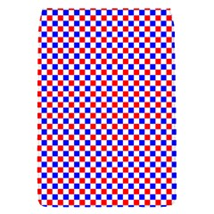 Blue Red Checkered Plaid Flap Covers (S)