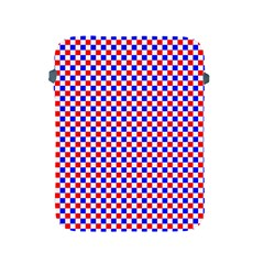 Blue Red Checkered Plaid Apple iPad 2/3/4 Protective Soft Cases