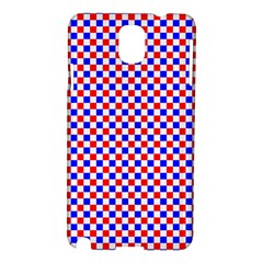 Blue Red Checkered Plaid Samsung Galaxy Note 3 N9005 Hardshell Case