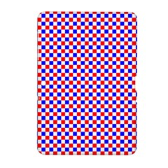Blue Red Checkered Plaid Samsung Galaxy Tab 2 (10.1 ) P5100 Hardshell Case