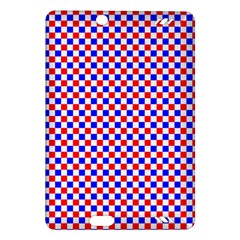 Blue Red Checkered Plaid Amazon Kindle Fire HD (2013) Hardshell Case