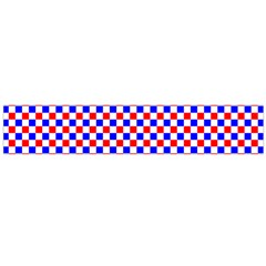 Blue Red Checkered Plaid Flano Scarf (Large)