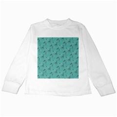 Animals Deer Owl Bird Grey Bear Blue Kids Long Sleeve T-Shirts