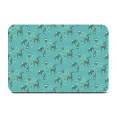 Animals Deer Owl Bird Grey Bear Blue Plate Mats