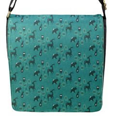 Animals Deer Owl Bird Grey Bear Blue Flap Messenger Bag (S)