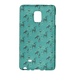 Animals Deer Owl Bird Grey Bear Blue Galaxy Note Edge