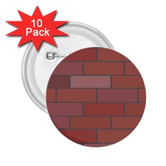 Brick Stone Brown 2.25  Buttons (10 pack)