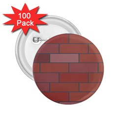 Brick Stone Brown 2.25  Buttons (100 pack)
