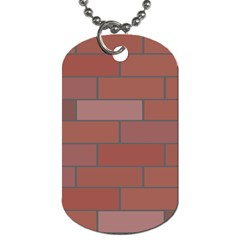 Brick Stone Brown Dog Tag (Two Sides)