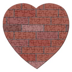 Brick Stone Brown Jigsaw Puzzle (Heart)