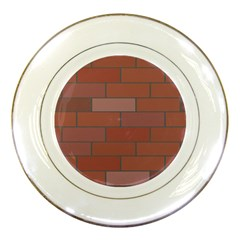 Brick Stone Brown Porcelain Plates