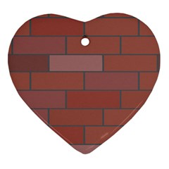 Brick Stone Brown Heart Ornament (Two Sides)