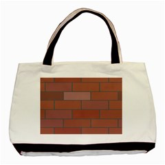 Brick Stone Brown Basic Tote Bag (Two Sides)
