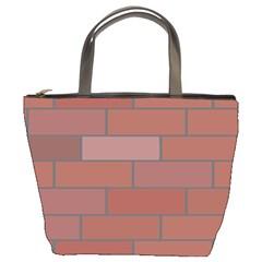 Brick Stone Brown Bucket Bags
