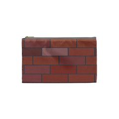 Brick Stone Brown Cosmetic Bag (Small)