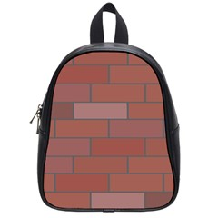 Brick Stone Brown School Bags (Small)
