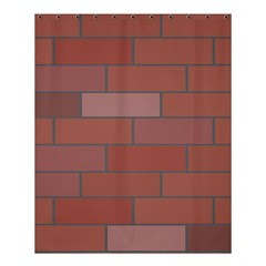 Brick Stone Brown Shower Curtain 60  x 72  (Medium)