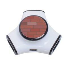 Brick Stone Brown 3-Port USB Hub