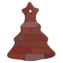 Brick Stone Brown Christmas Tree Ornament (Two Sides)