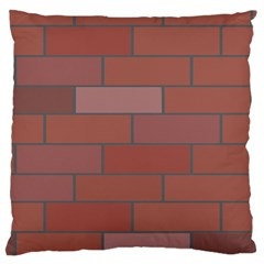 Brick Stone Brown Large Cushion Case (One Side)