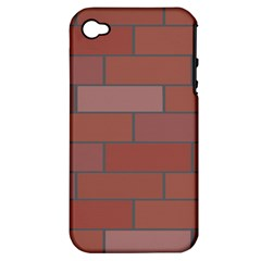 Brick Stone Brown Apple iPhone 4/4S Hardshell Case (PC+Silicone)