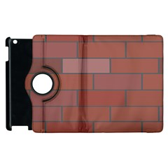 Brick Stone Brown Apple iPad 2 Flip 360 Case