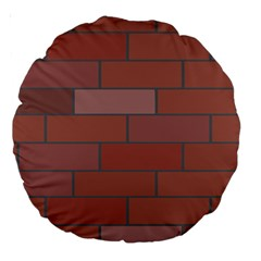 Brick Stone Brown Large 18  Premium Round Cushions