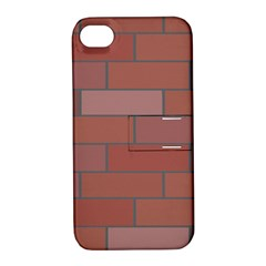 Brick Stone Brown Apple iPhone 4/4S Hardshell Case with Stand